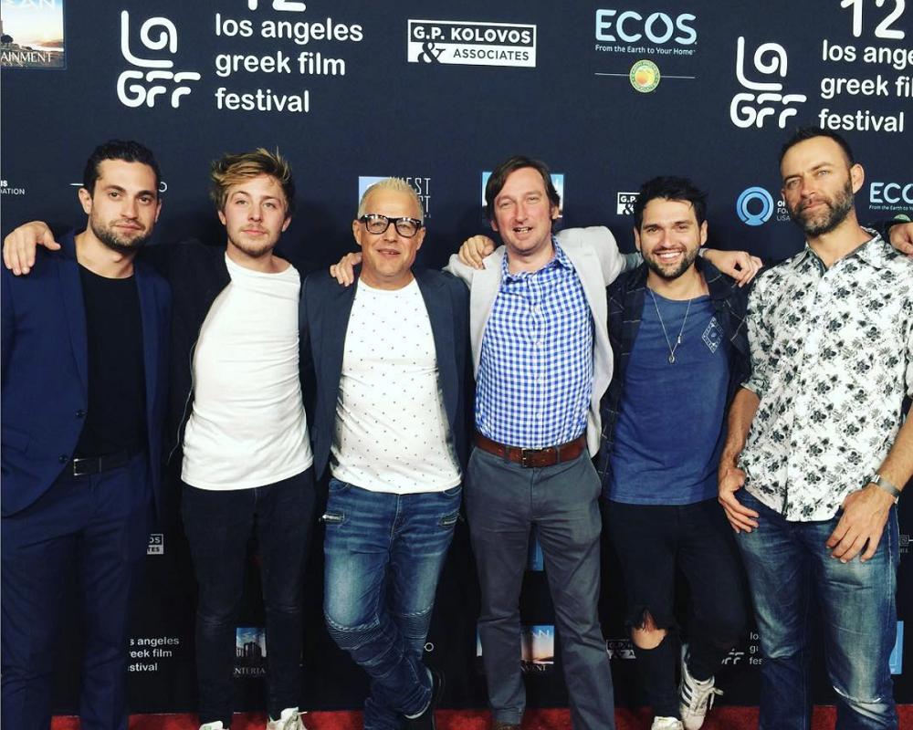 AH on he Red Carpet at the Egyptian Theatre Hollywood. Left to right (Leo Georgallis, John Sullivan, Louis Mandylor, Justin Jones, Adam Horner, Maarten Talbot)
